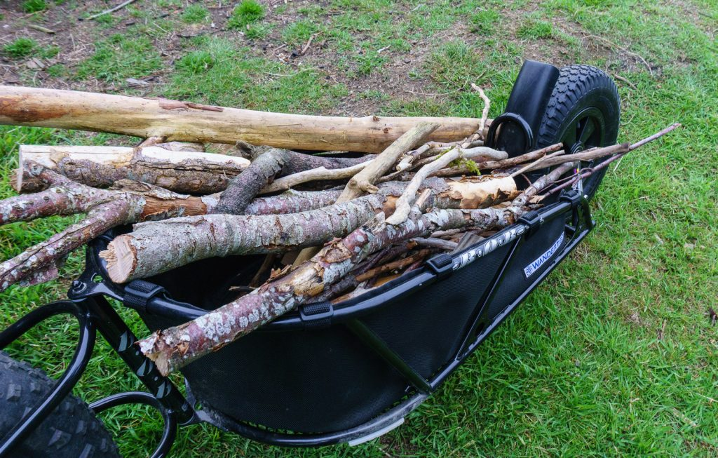 Fully loaded firewood charriot