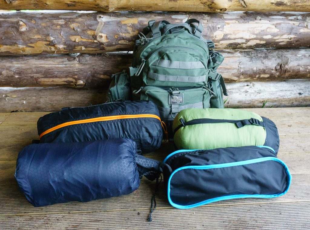 My tent, sleep seating and backpack  systems