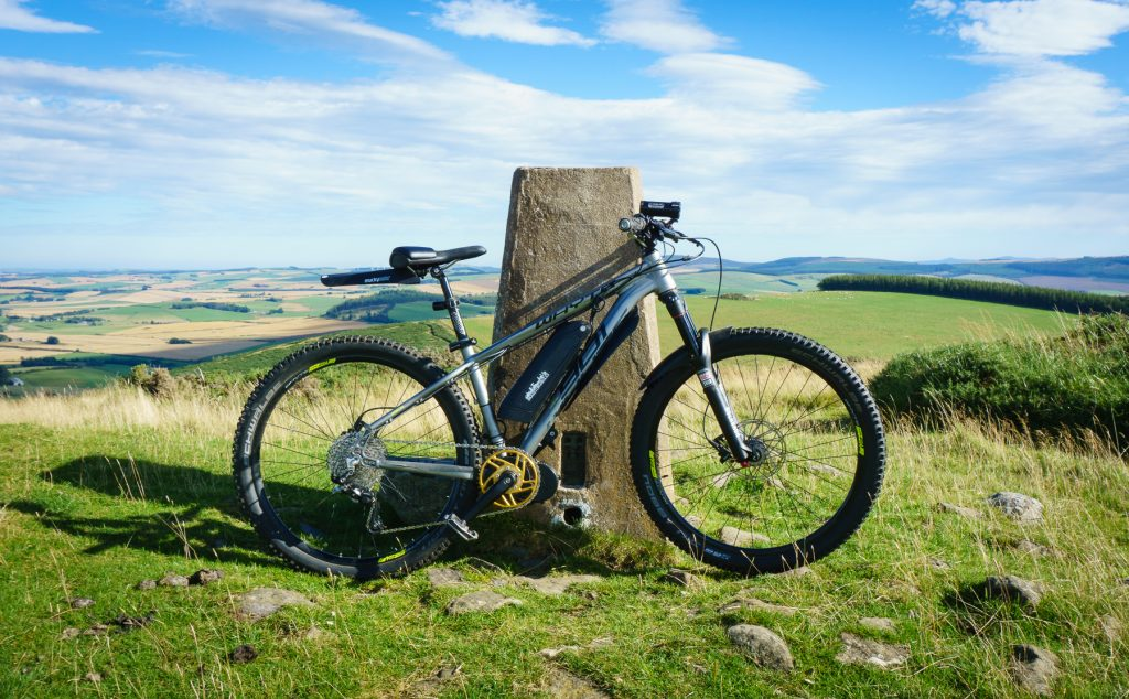 400m (1200 ftt) Summit made easier with electrical assistance on my Whyte 901